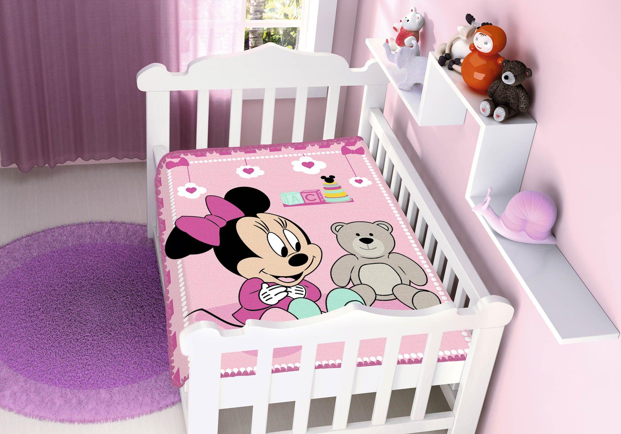 Cobertor Jolitex Raschel Infantil 0,90x1,10m Disney Minnie Surpresa