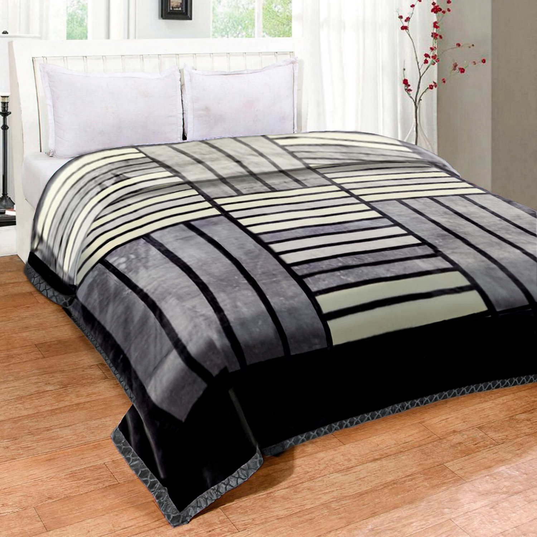 Cobertor Jolitex Raschel King 2,20x2,40m Bering Cinza