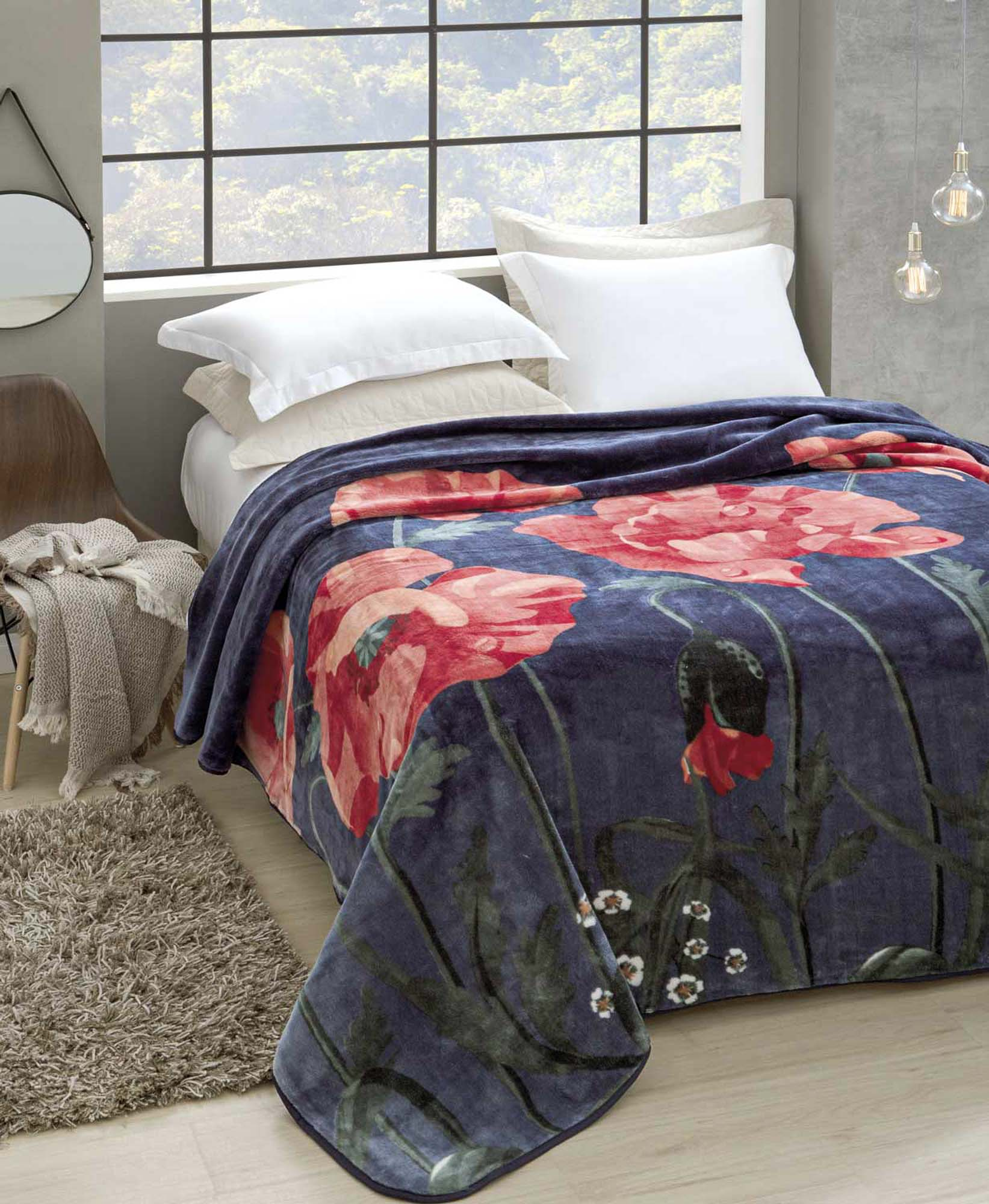 Cobertor Jolitex Raschel King 2,20x2,40m Florescer