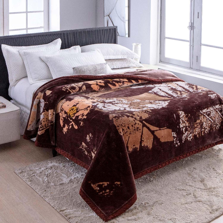 Cobertor Jolitex Raschel King 2,20x2,40m Opera Marrom