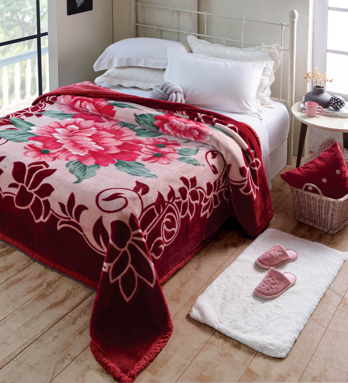 Cobertor Jolitex Raschel Plus King 2,20x2,40m Irtich Vinho