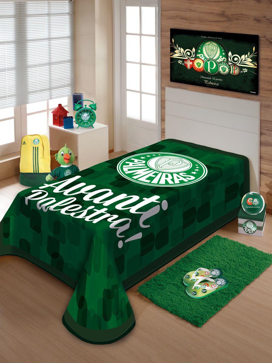 Cobertor Jolitex Raschel Solteiro 1,50x2,20m Palmeiras