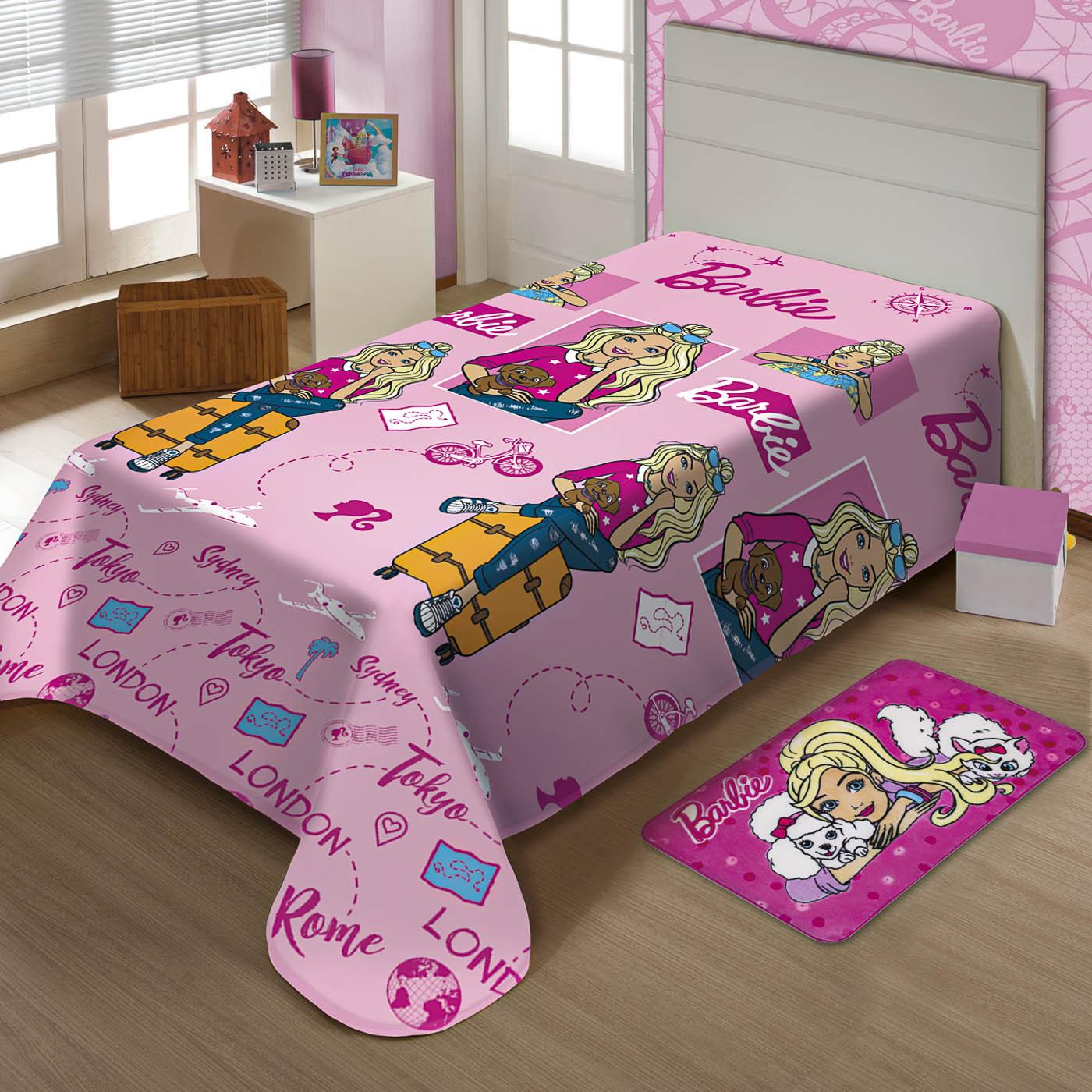 Cobertor Jolitex Ternille Licenciados Soft Solteiro Barbie