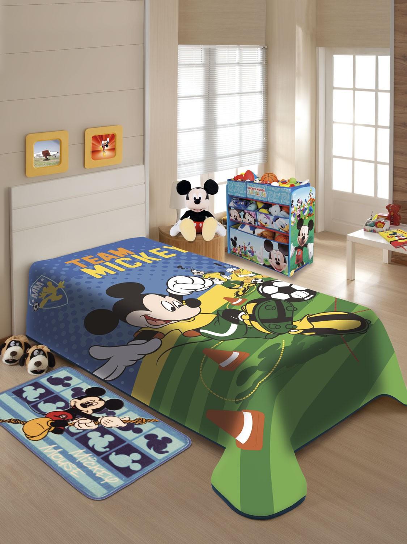 Cobertor Juvenil Jolitex Disney Solteiro 1,50x2,00m Mickey Futebol