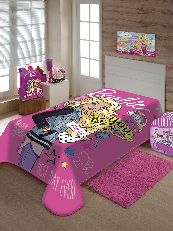 Cobertor Juvenil Jolitex Solteiro 1,50x2,00m Barbie Moda