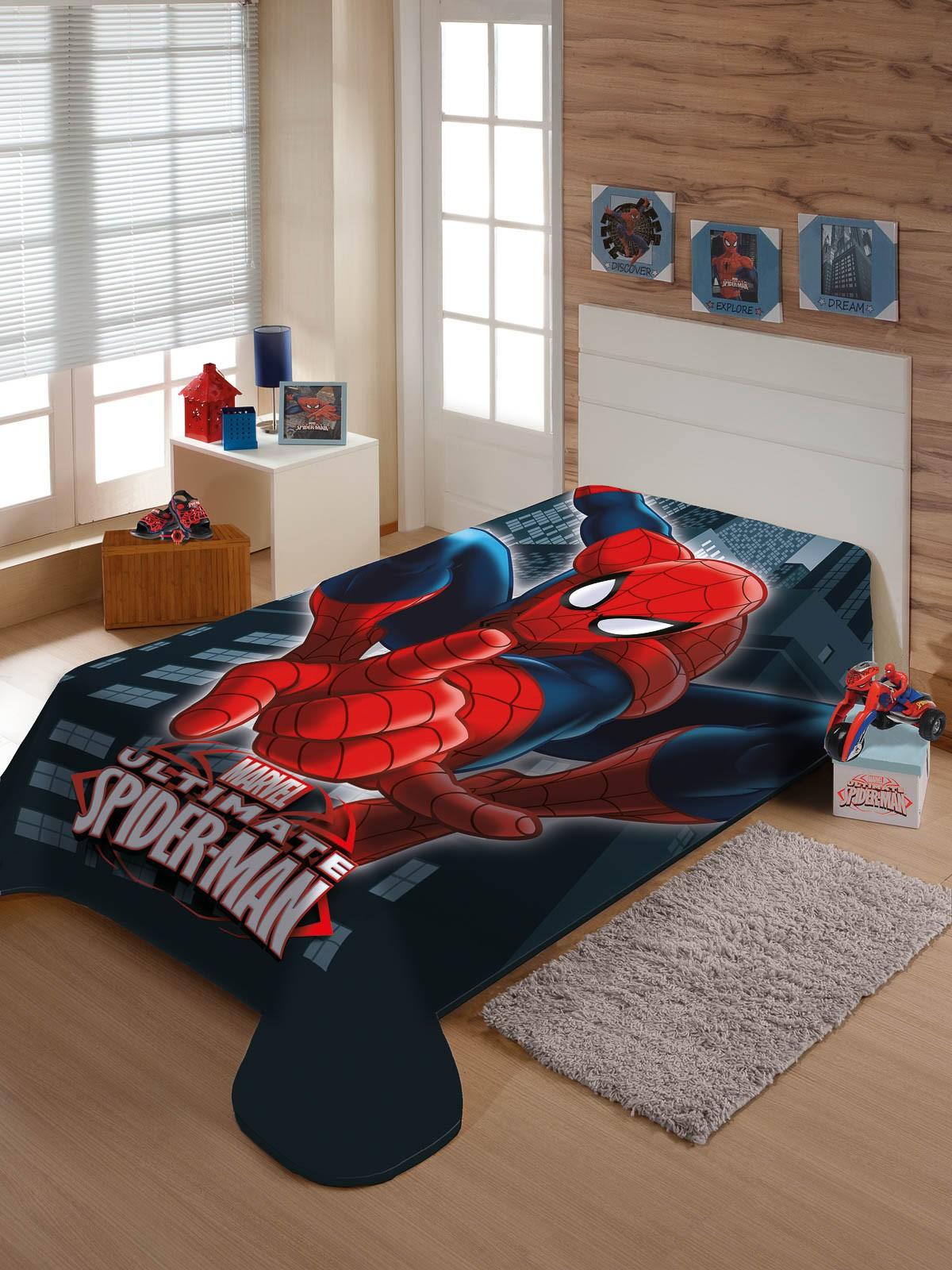 Cobertor Juvenil Jolitex Solteiro 1,50x2,00m Homem Aranha