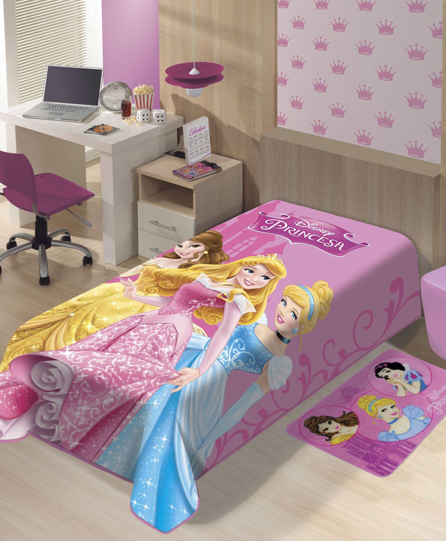 Cobertor Juvenil Jolitex Solteiro 1,50x2m Disney Princesas