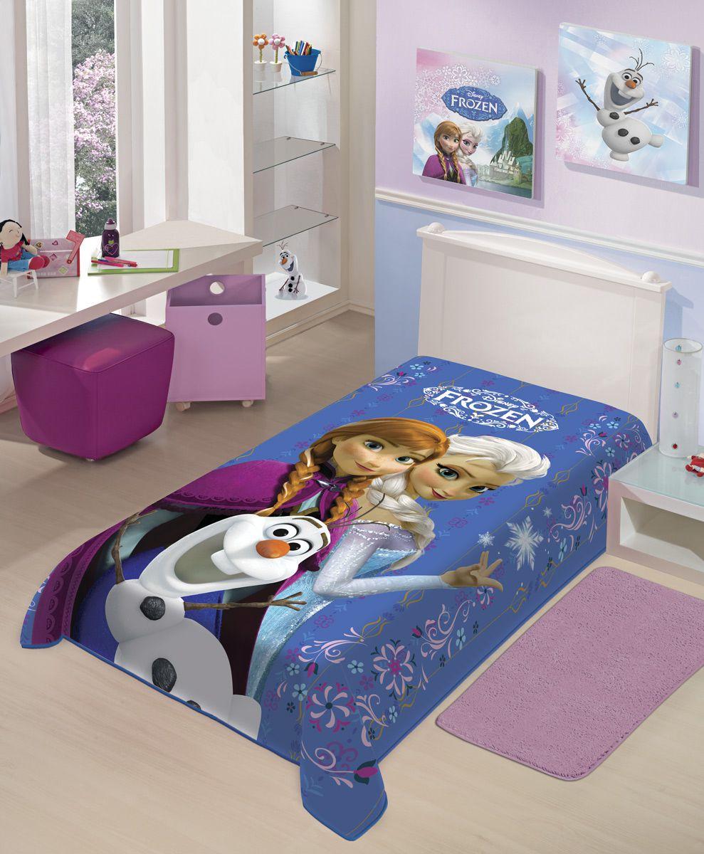 Cobertor Juvenil Jolitex Solteiro Não Alérgico 1,50 x 2,00 Mt Disney Frozen