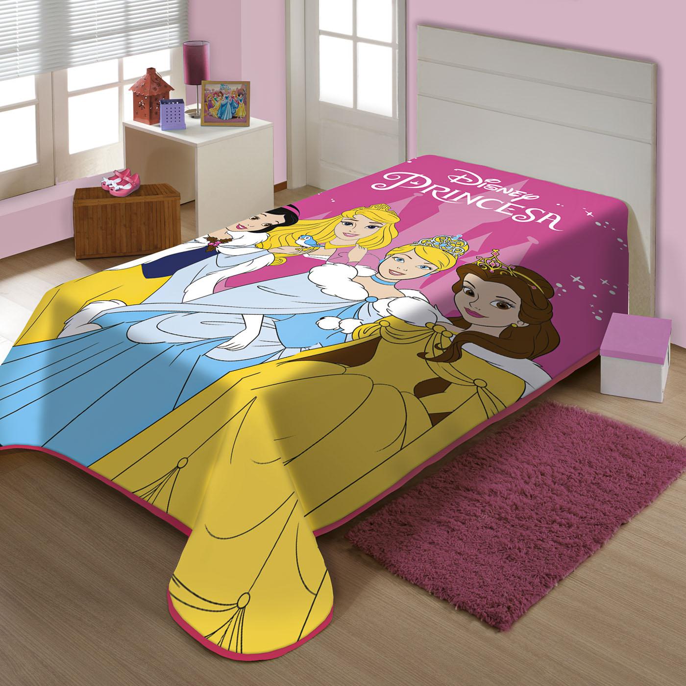 Cobertor Juvenil Raschel Charme De Princesas Jolitex Ternille