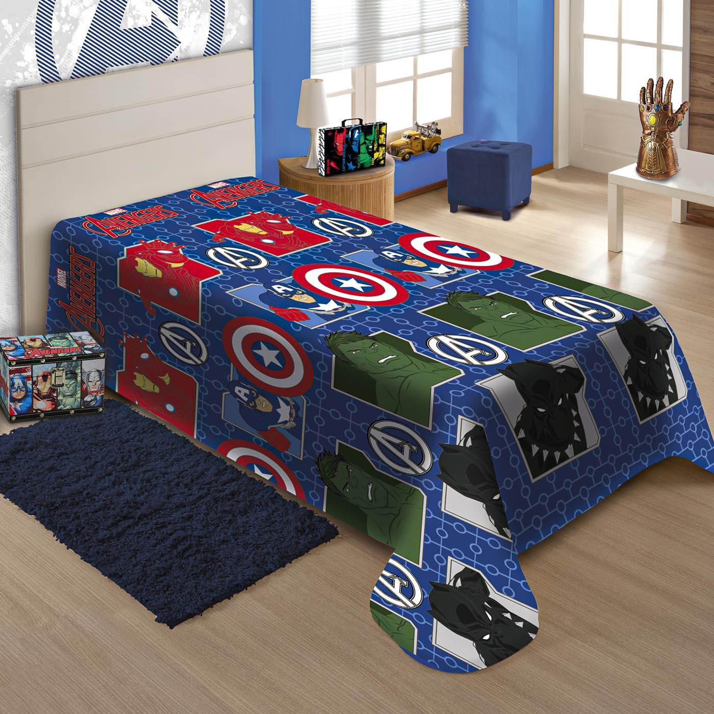 Cobertor Marvel Jolitex Ternille Soft Solteiro Vingadores