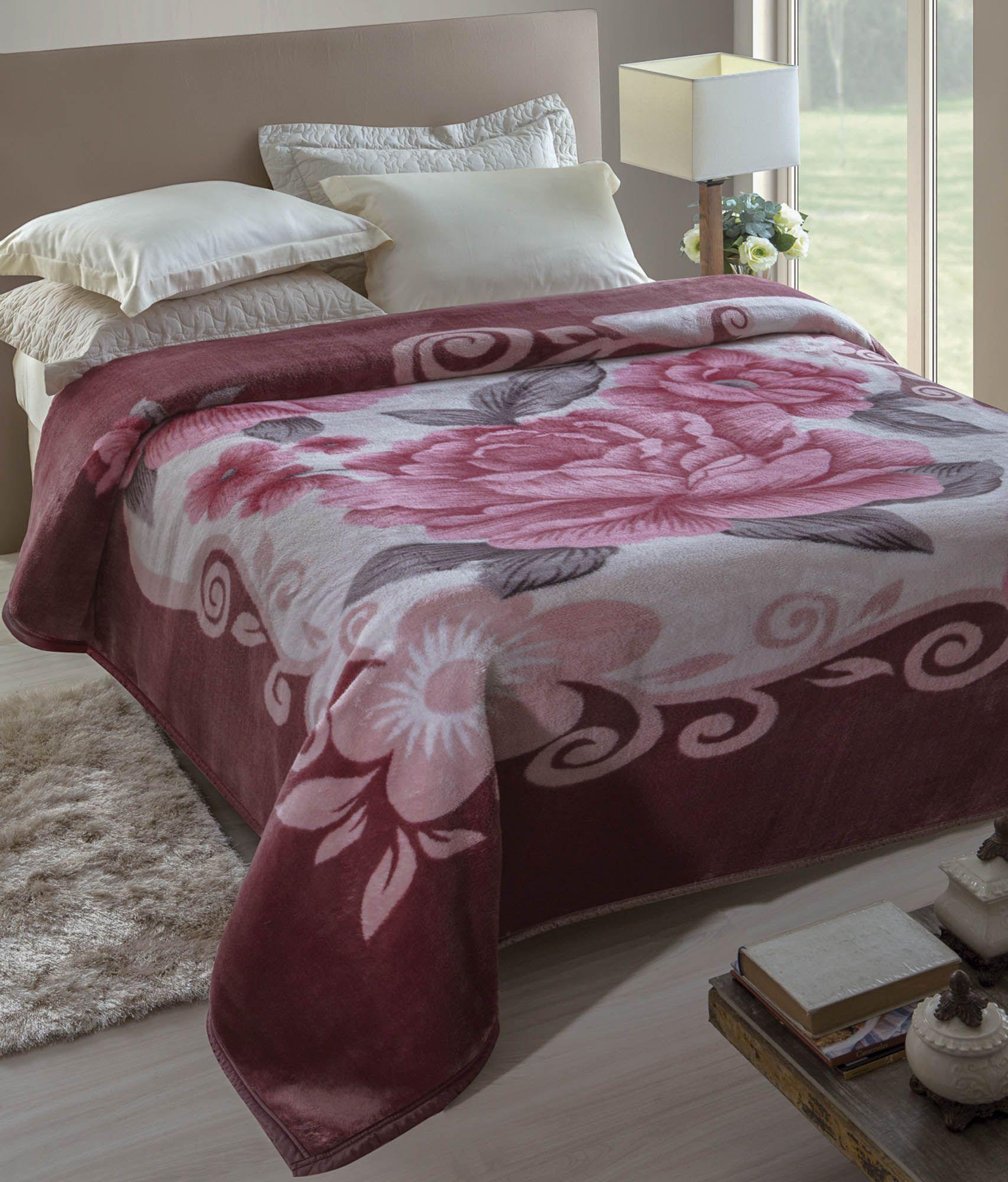 Cobertor Microfibra Jolitex Araneda Kyor Plus King 2,20 m x 2,40 m 100% Poliester