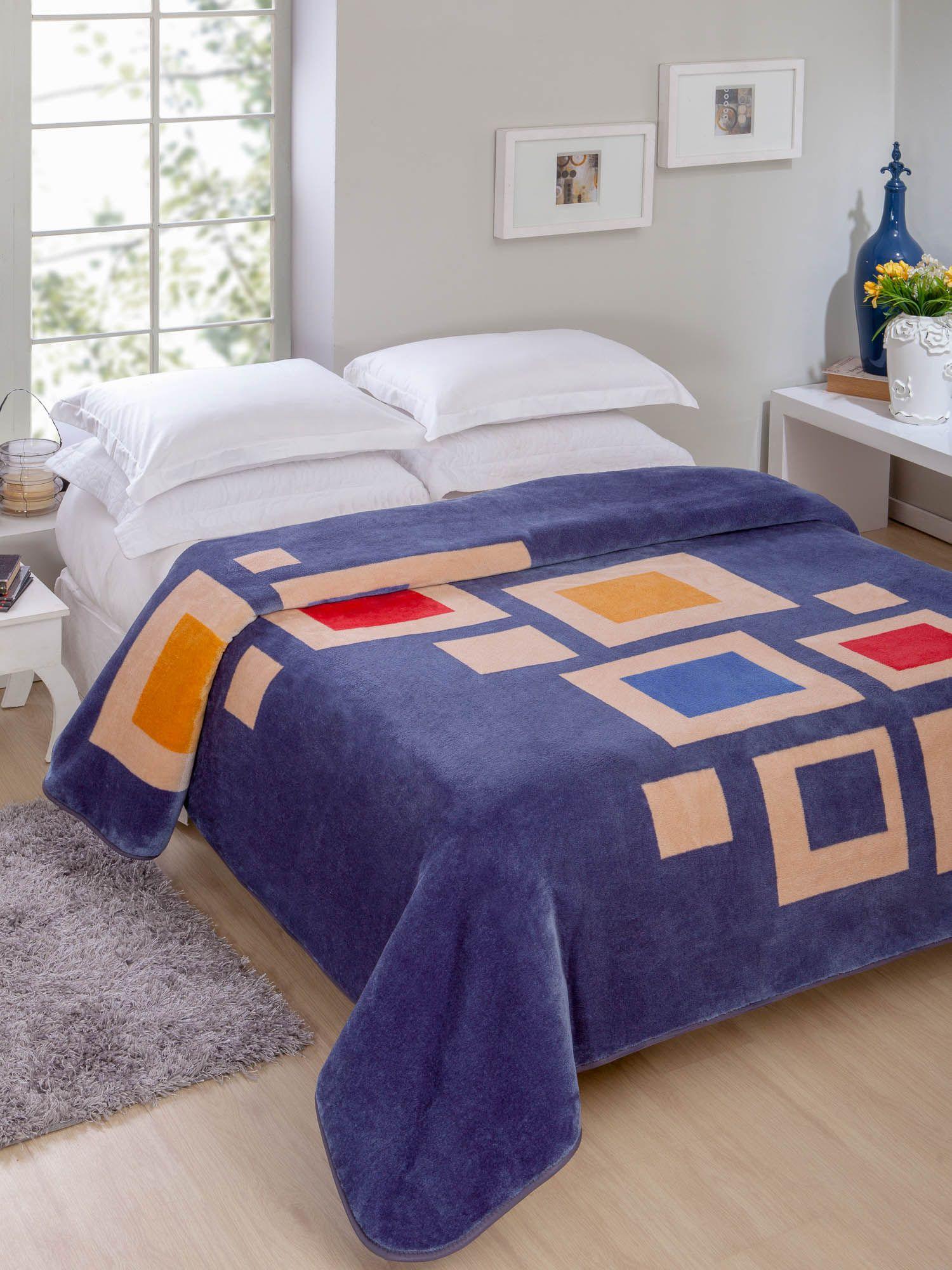 Cobertor Não Alérgico Jolitex Raschel Dakota Casal 1,80 m x 2,20 m