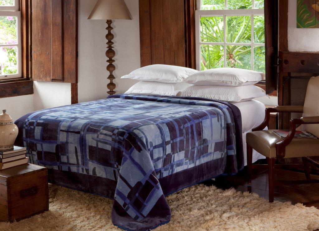 Cobertor Não Alérgico Jolitex Raschel Paramount Casal 1,80 m x 2,20 m 100% Poliester