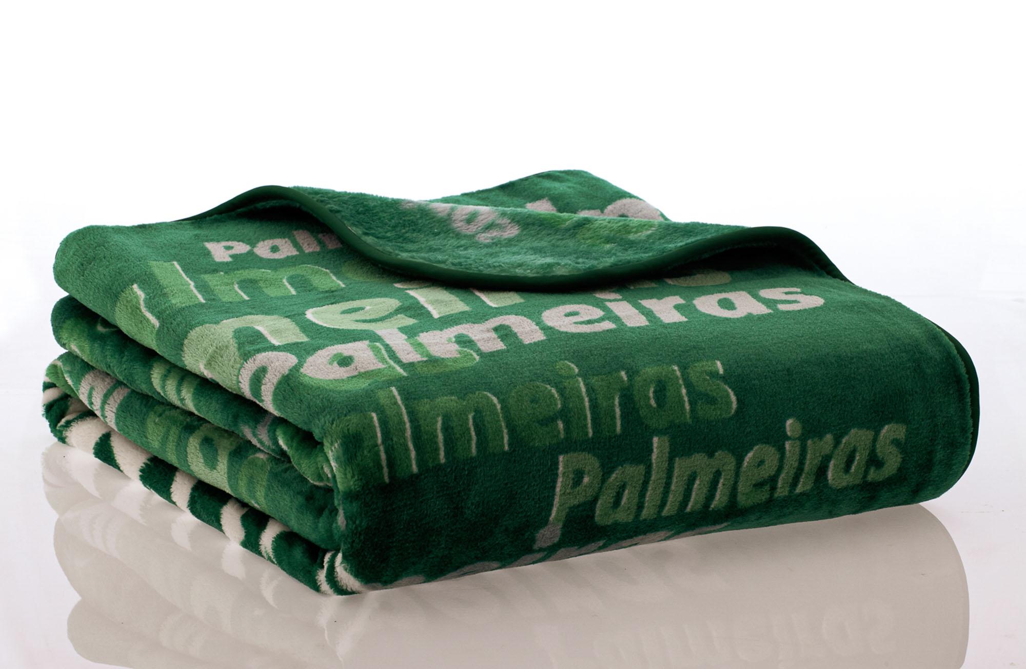 Cobertor Palmeiras Solteiro Jolitex 1,50x2,20m Raschel