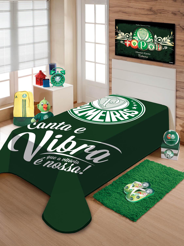 Cobertor Palmeiras Solteiro Raschel Jolitex Vitória É Nossa