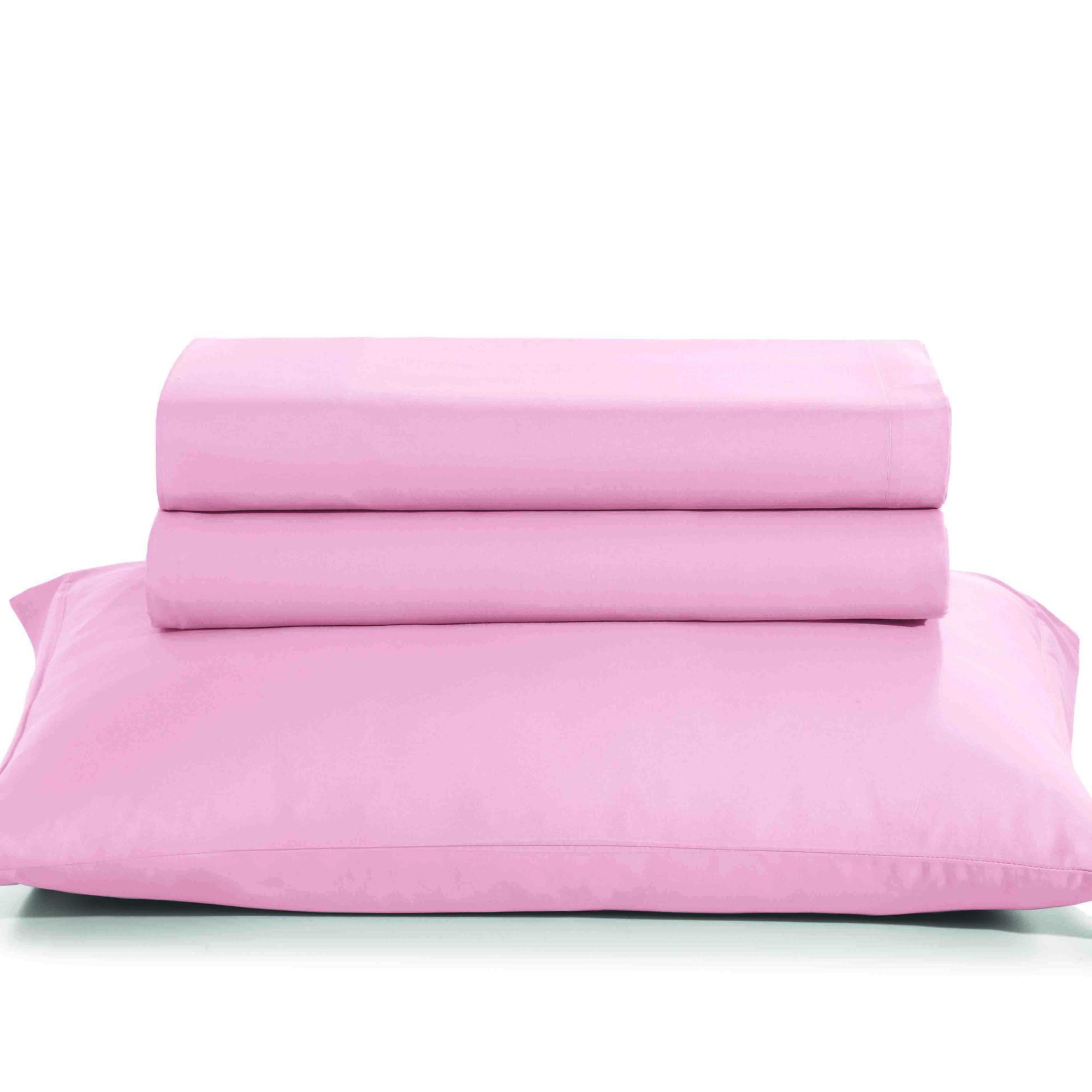 Fronha percal 180 fios artex total mix 50 cm x 70 cm 100% algodao rosa