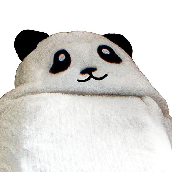 Manta Com Capuz Infantil Baby Jolitex 75cmx1Mt de Urso Panda