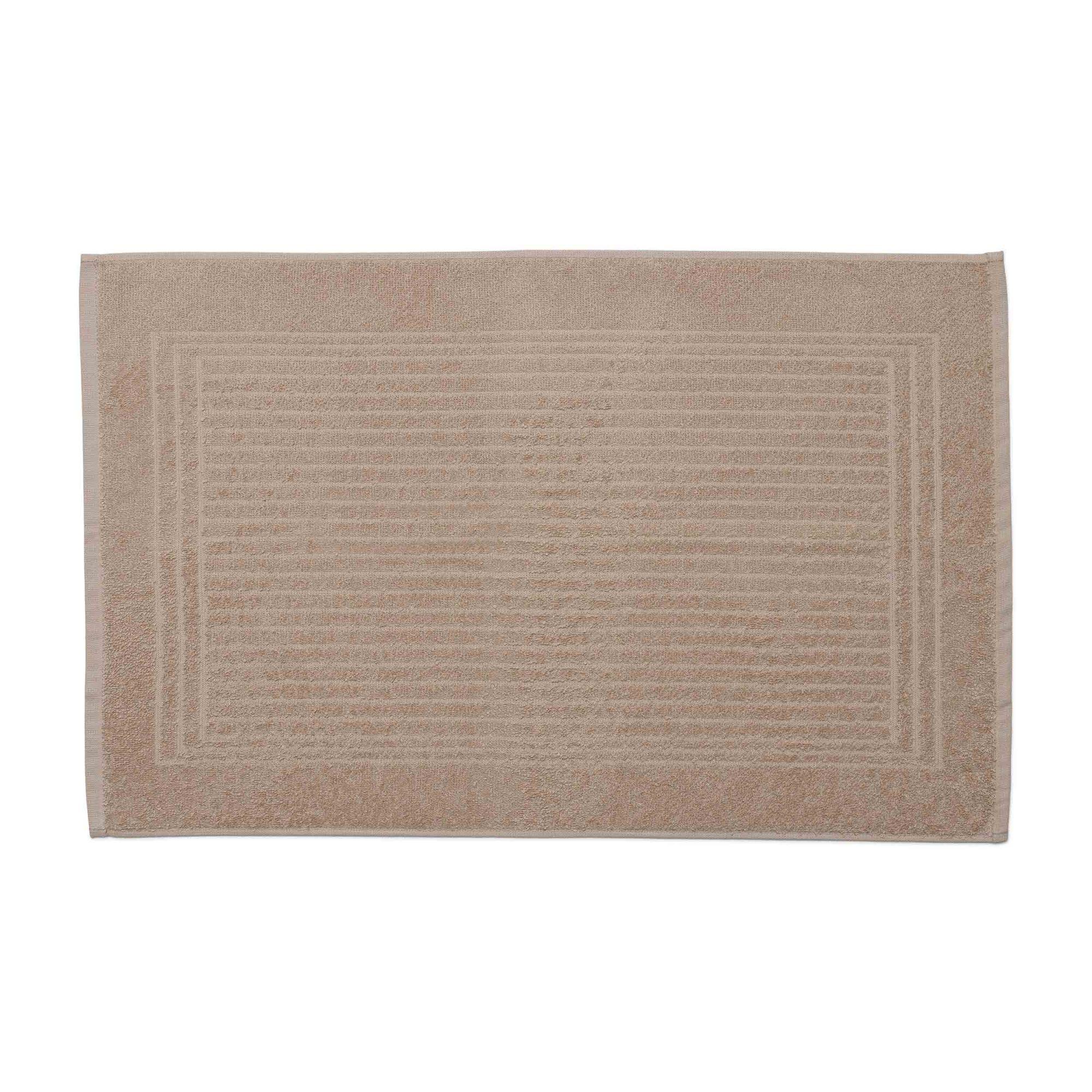 Piso para banheiro cedro santista 45cm x 70cm 100% algodao bege