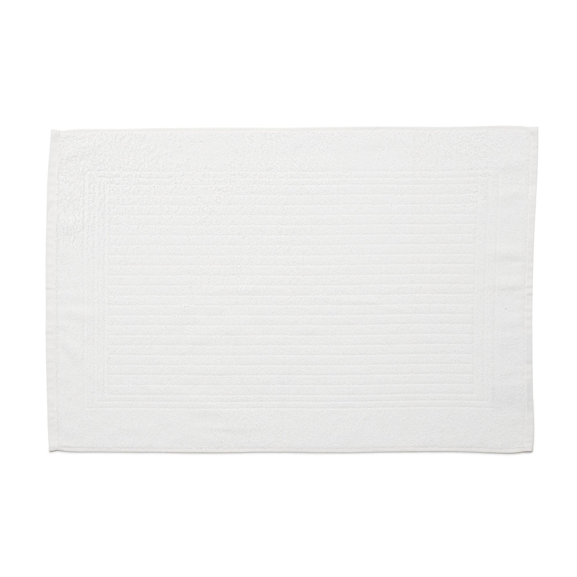 Piso para banheiro cedro santista 45cm x 70cm 100% algodao branco