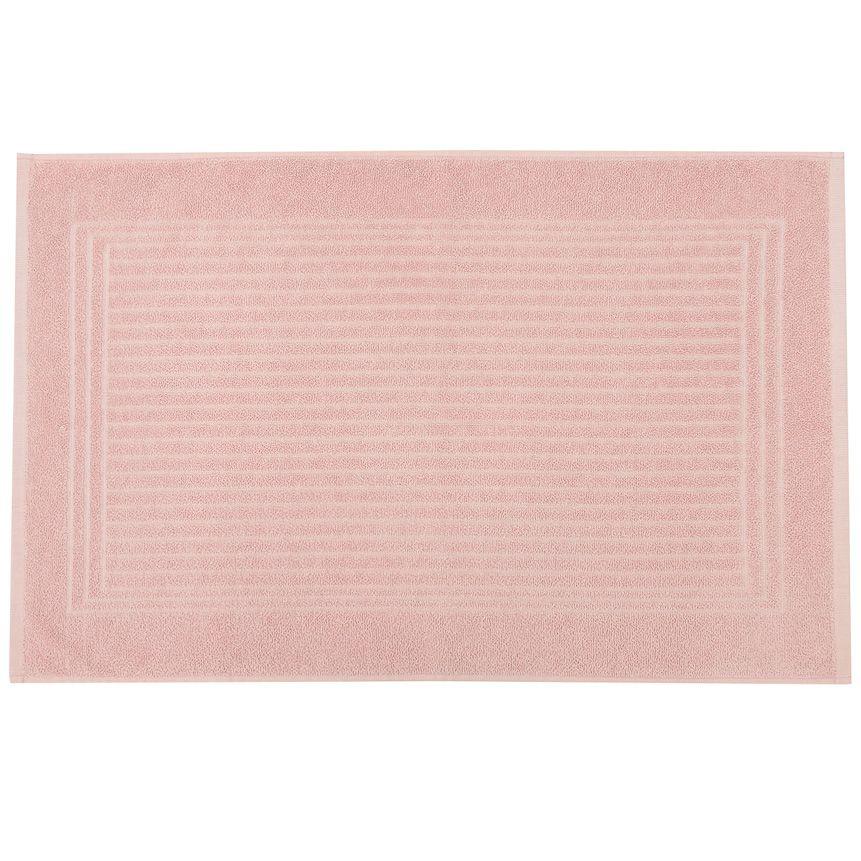 Piso para banheiro cedro santista 45cm x 70cm 100% algodao rosa