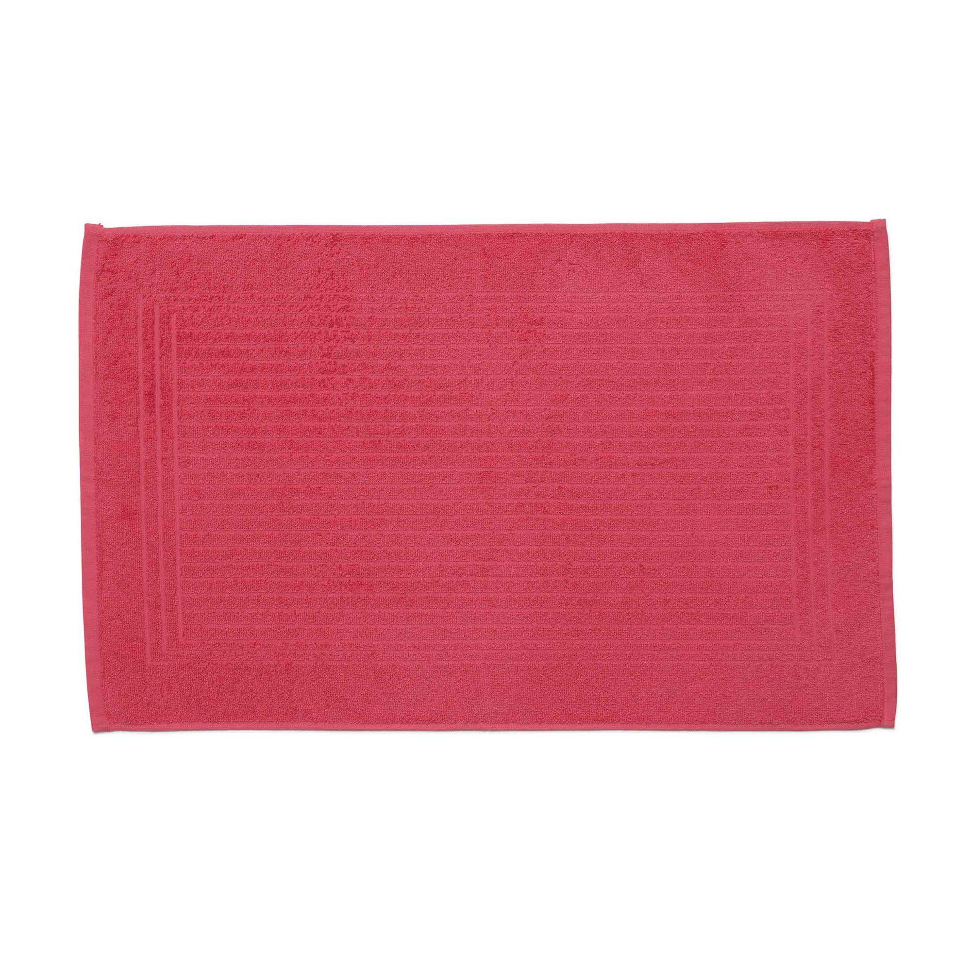 Piso para banheiro cedro santista 45cm x 70cm 100% algodao rosa geranio