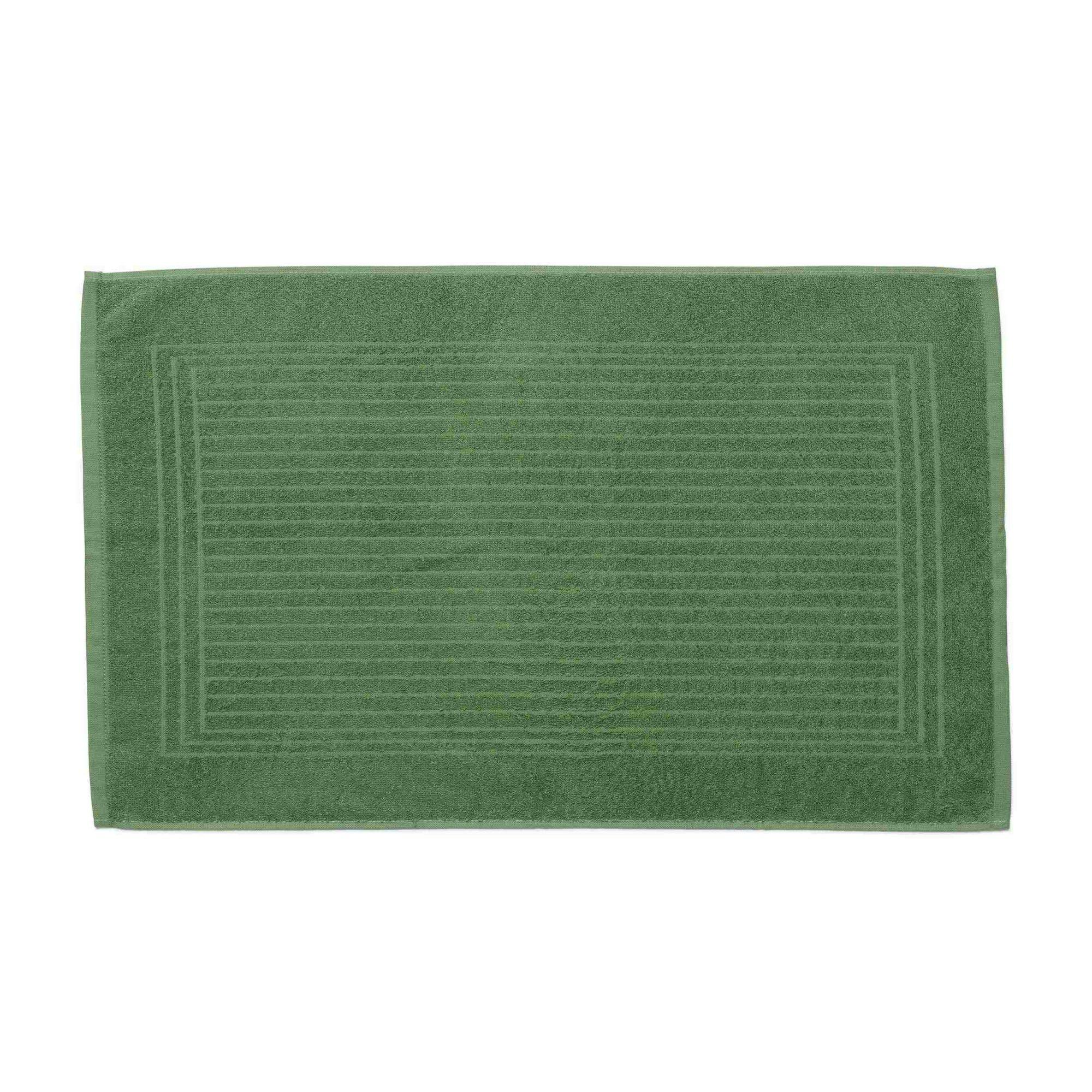 Piso para banheiro cedro santista 45cm x 70cm 100% algodao verde