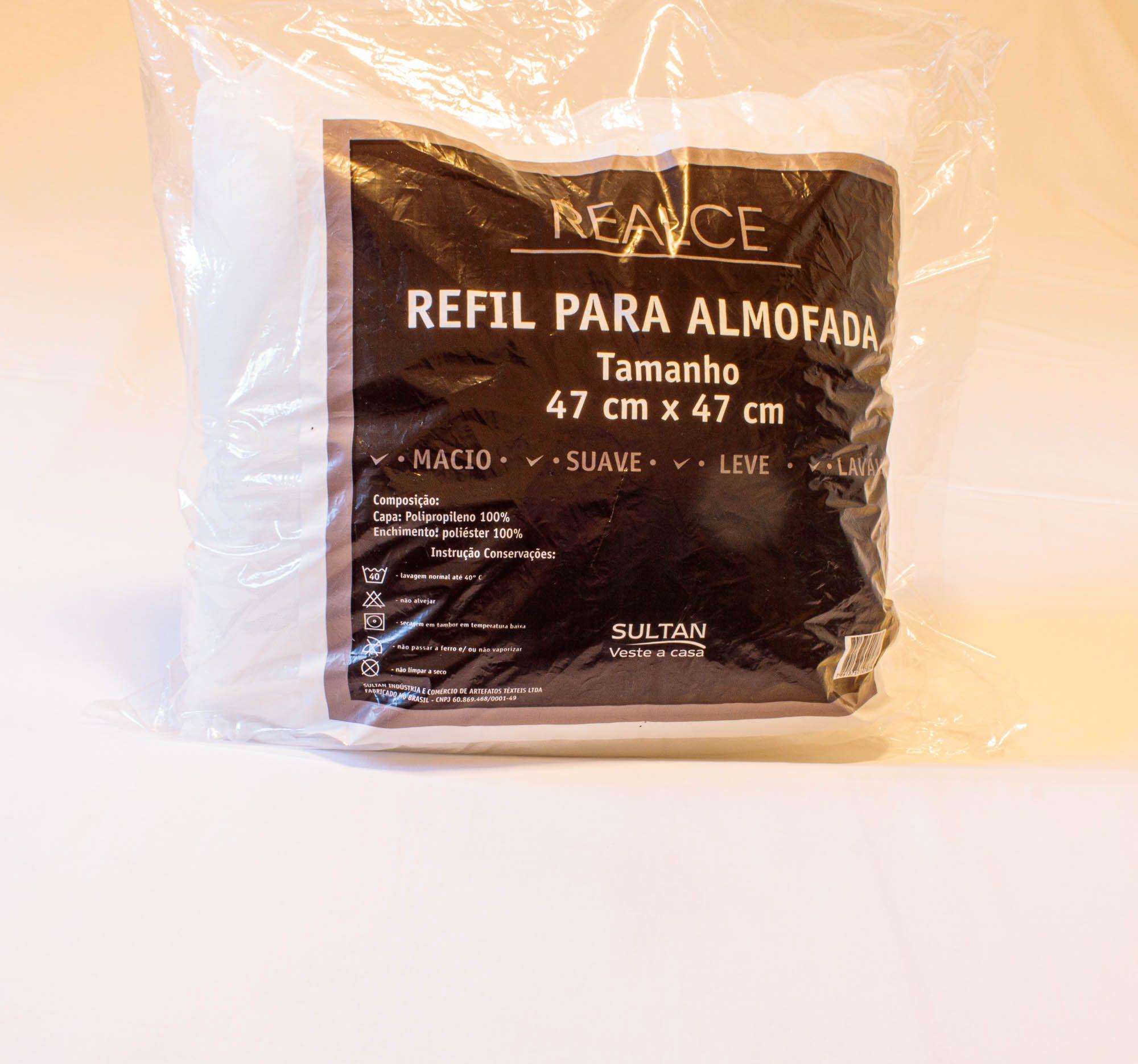 refil para almofada sultan 47x47 cm