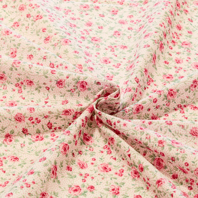Rolo 2 Metros Tecido Tricoline Estampado Flores Rosa
