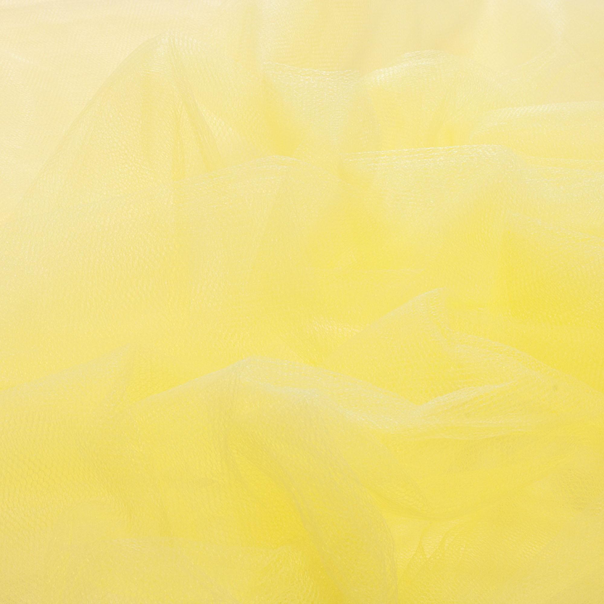 Rolo de Tecido Tule 50 Metros 1,20 Mt Largura Amarelo Bebê
