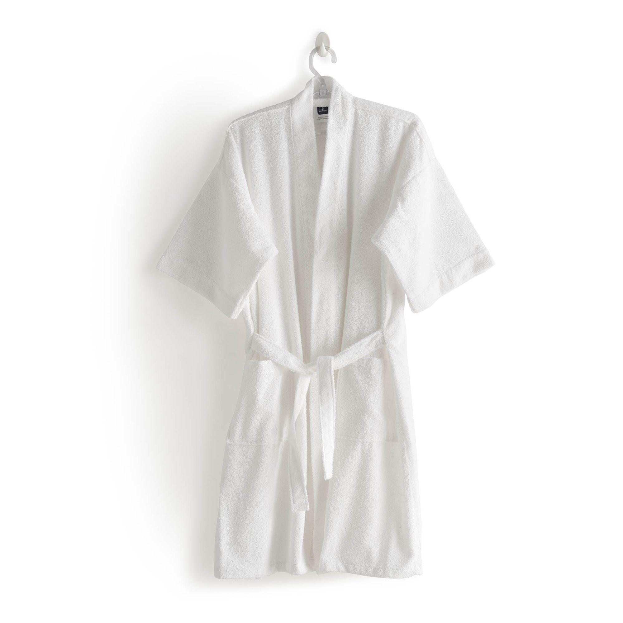Roupão felpudo judoca santista grande 100% algodao branco