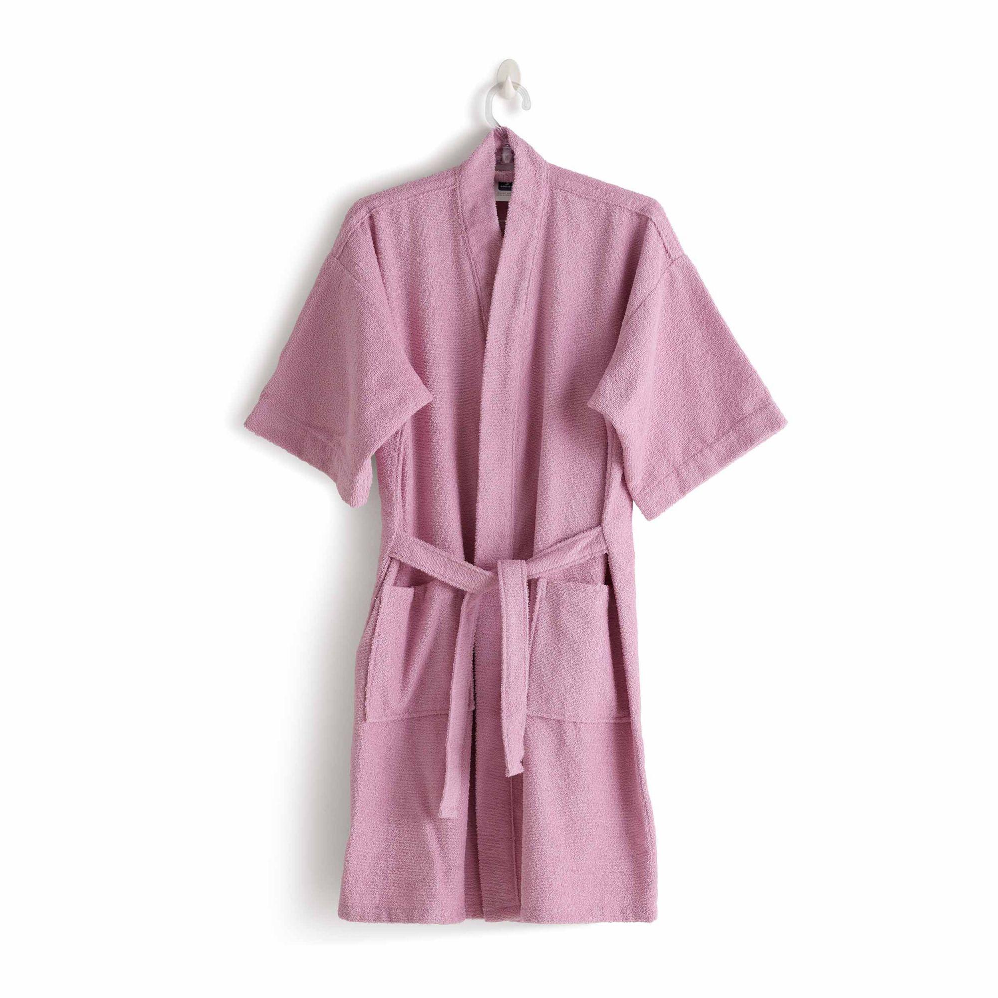 Roupão felpudo judoca rosa santista grande 100% algodao