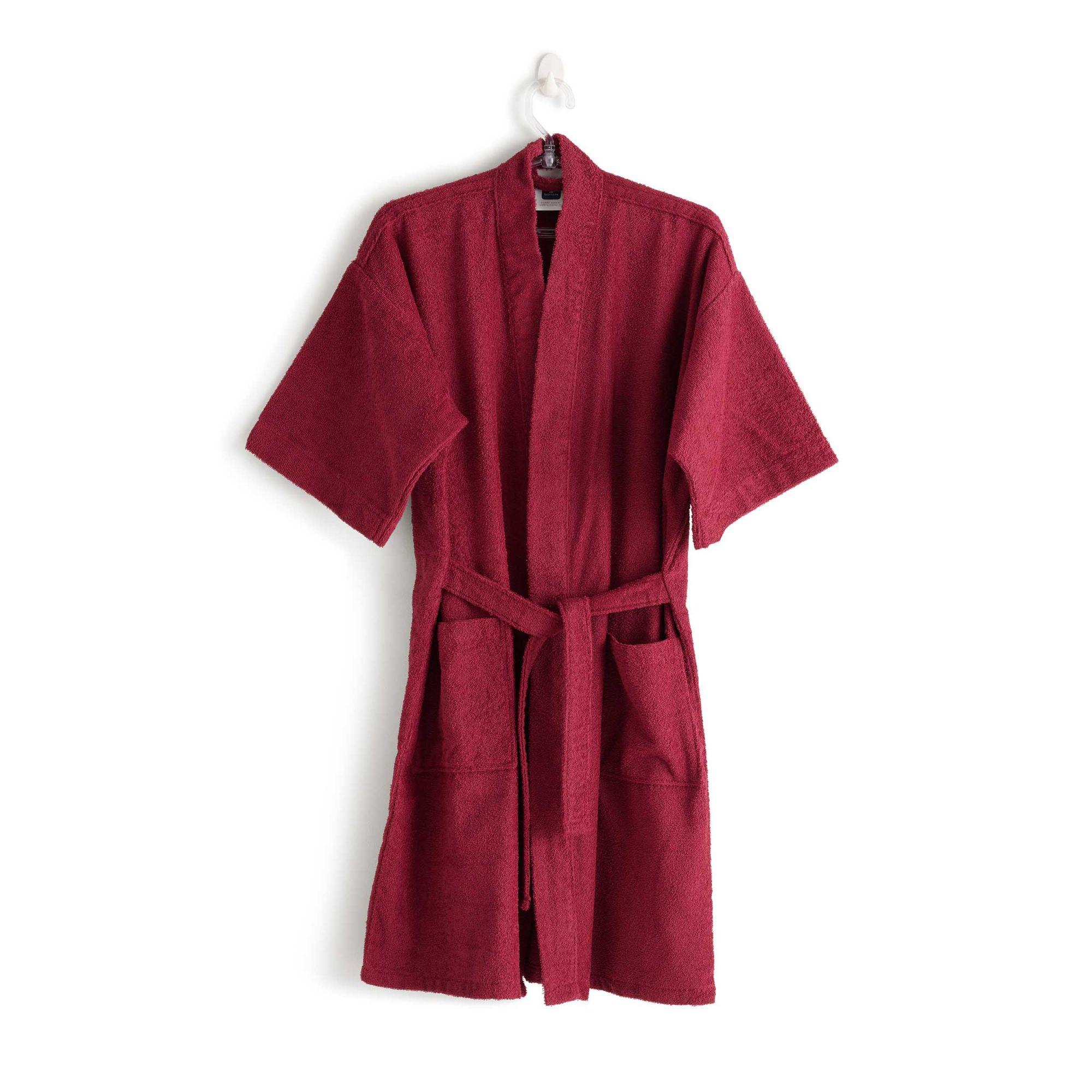 Roupão felpudo judoca vinho santista grande 100% algodão