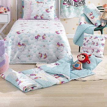 Saco de dormir infantil santista magic unicornio rosa/cd