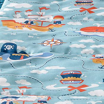 Saco de dormir infantil pirata azul santista