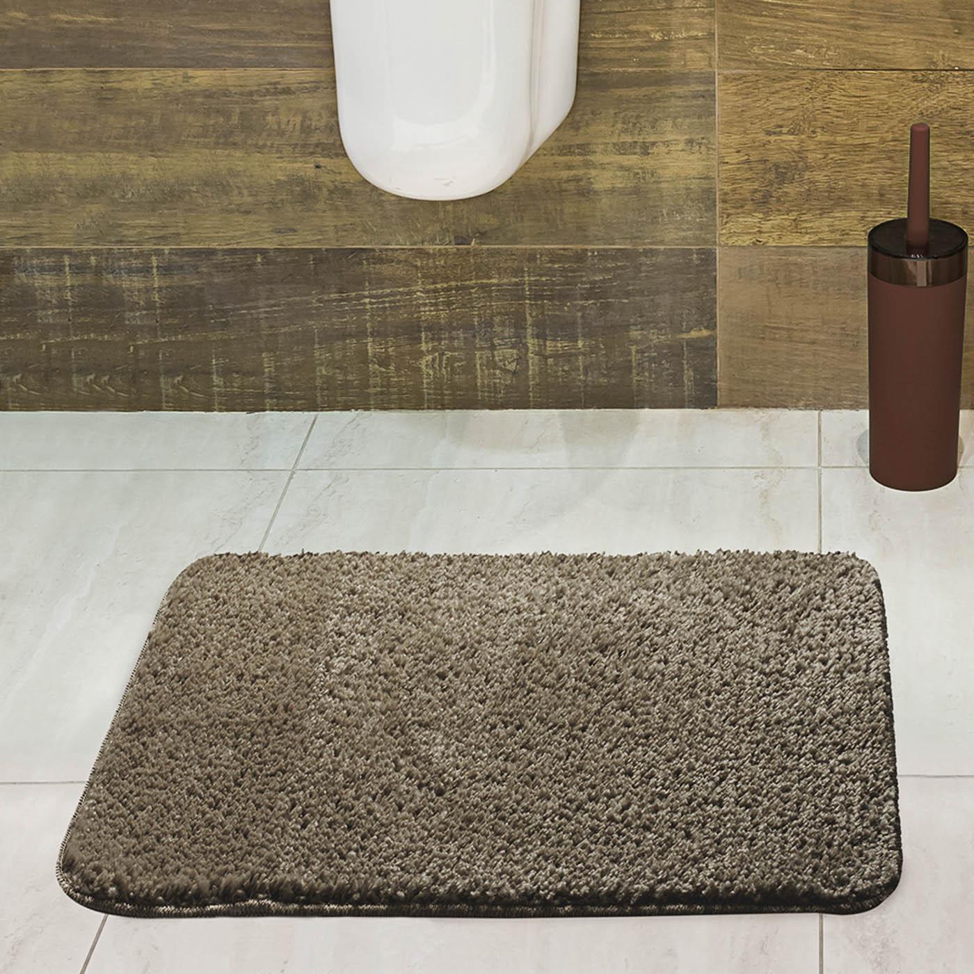 Tapete para Banheiro Jolitex Volpi 40x60cm Caqui