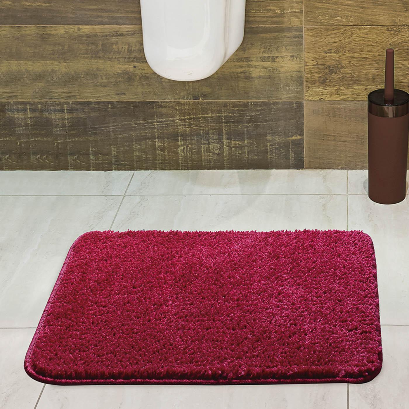 Tapete para Banheiro Jolitex Volpi 40x60cm Vermelho