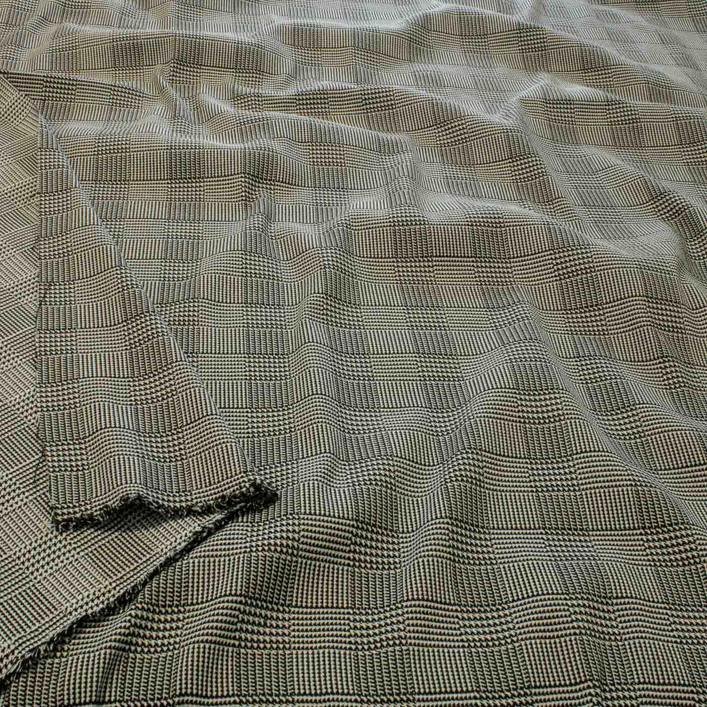 Tecido Alfaiataria Xadrez Principe de Gales Preto  Branco