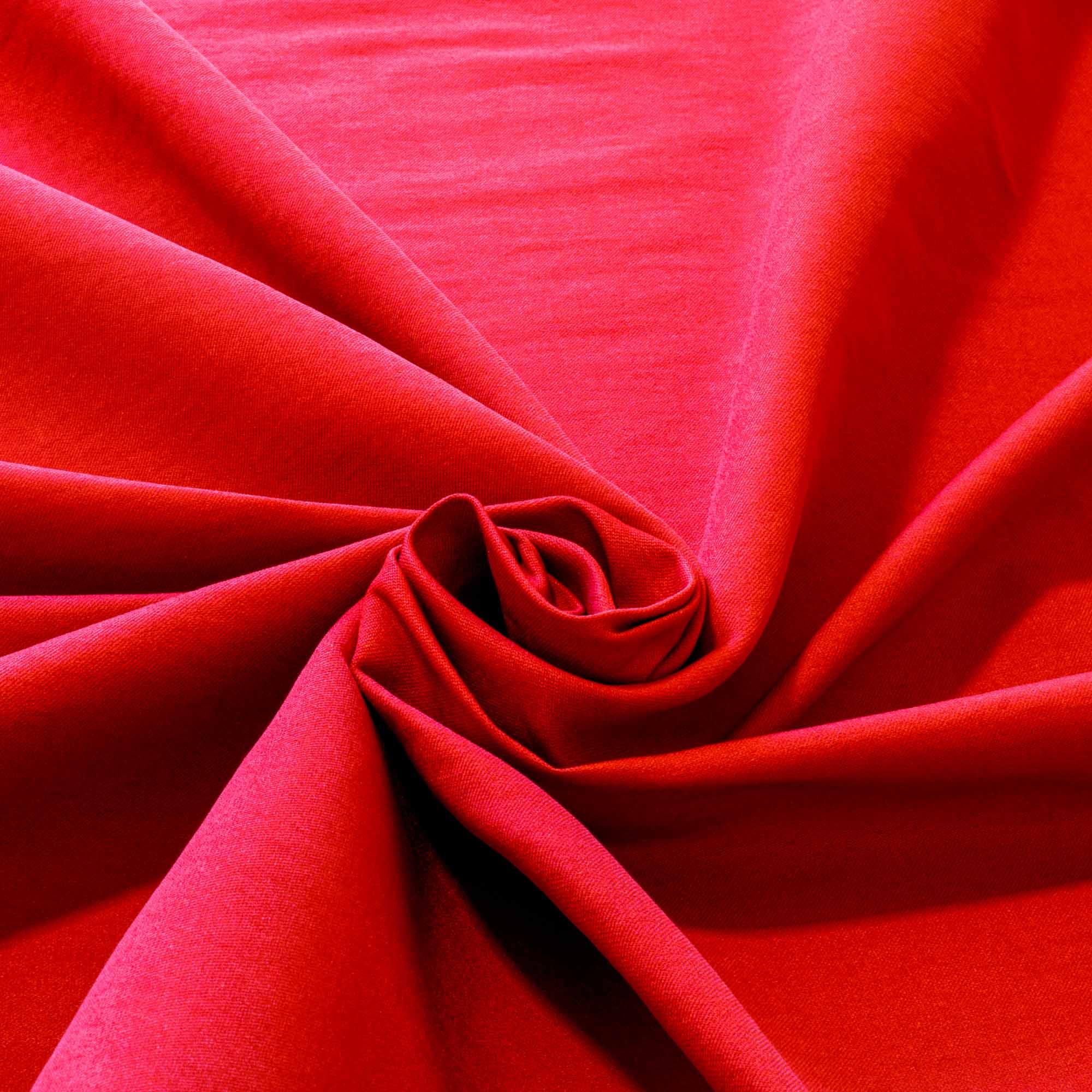 Tecido Bengaline Vermelho Liso 1,45 Mt Largura