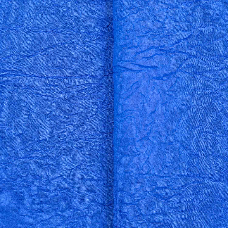 Tecido Cetim Amassado Azul Royal 100% Poliester 3 m Largura