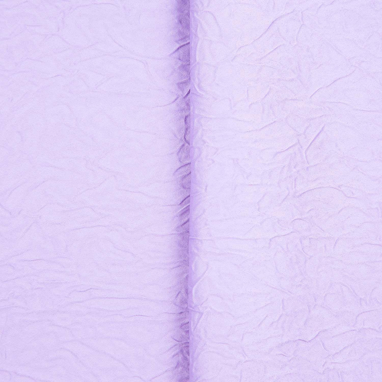 Tecido Cetim Amassado Lilas 100% Poliester 3 m Largura