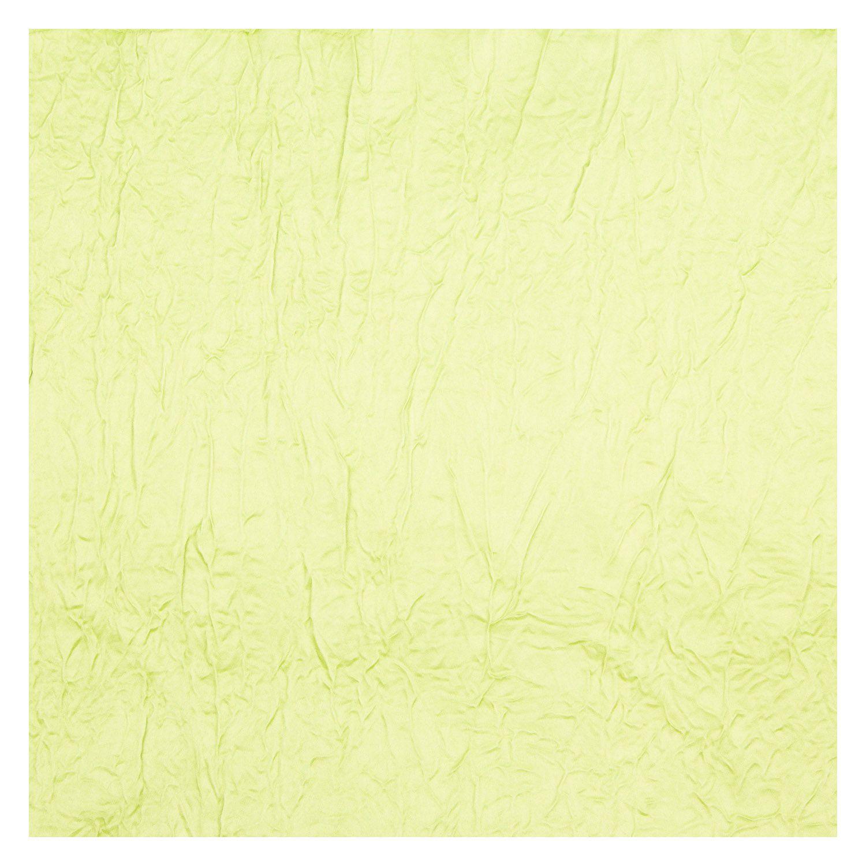 Tecido Cetim Amassado Verde Limão 100% Poliester 3 m Largura