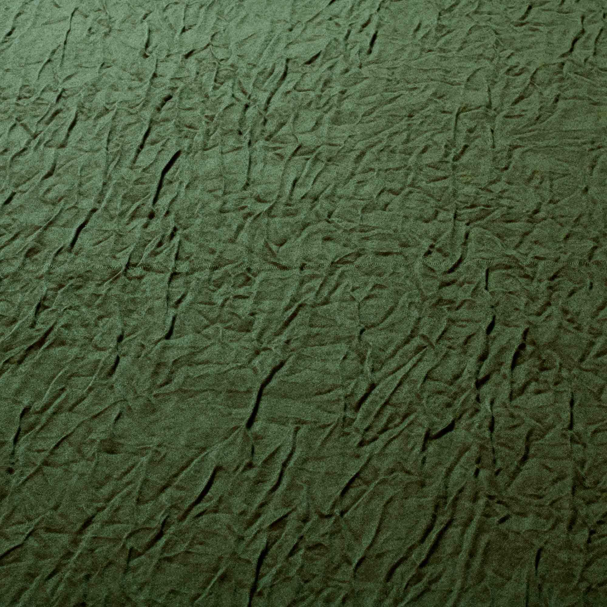 Tecido Cetim Amassado Verde Musgo 100% Poliester 3 m Largura