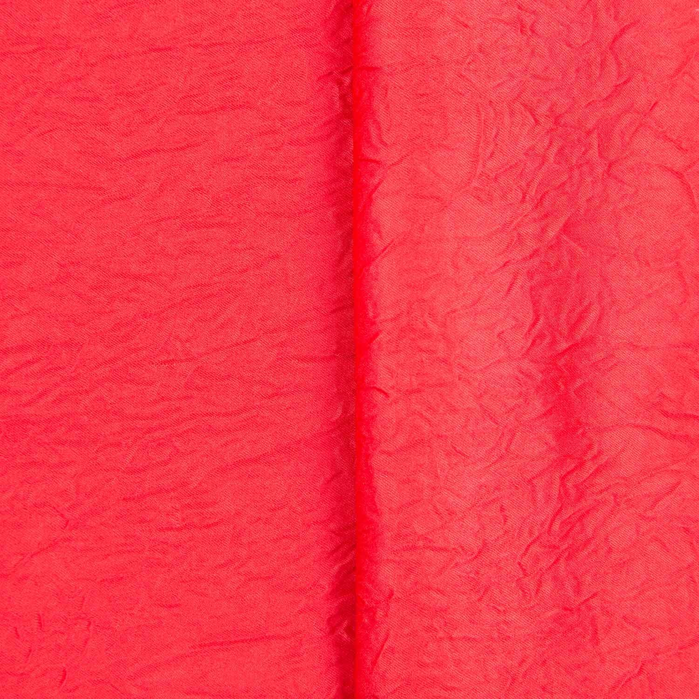 Tecido Cetim Amassado Vermelho 100% Poliester 3 m Largura