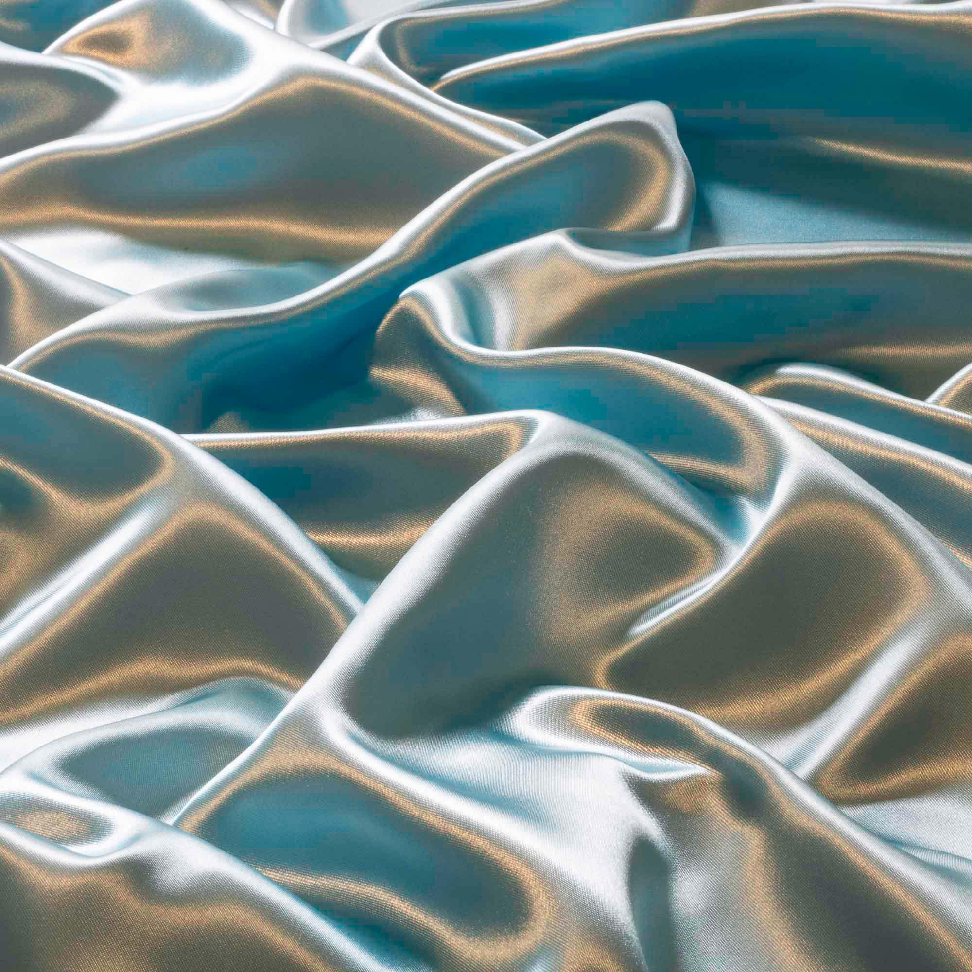 Tecido Cetim Charmeuse Azul Claro 100% Poliester 1,40 m Largura