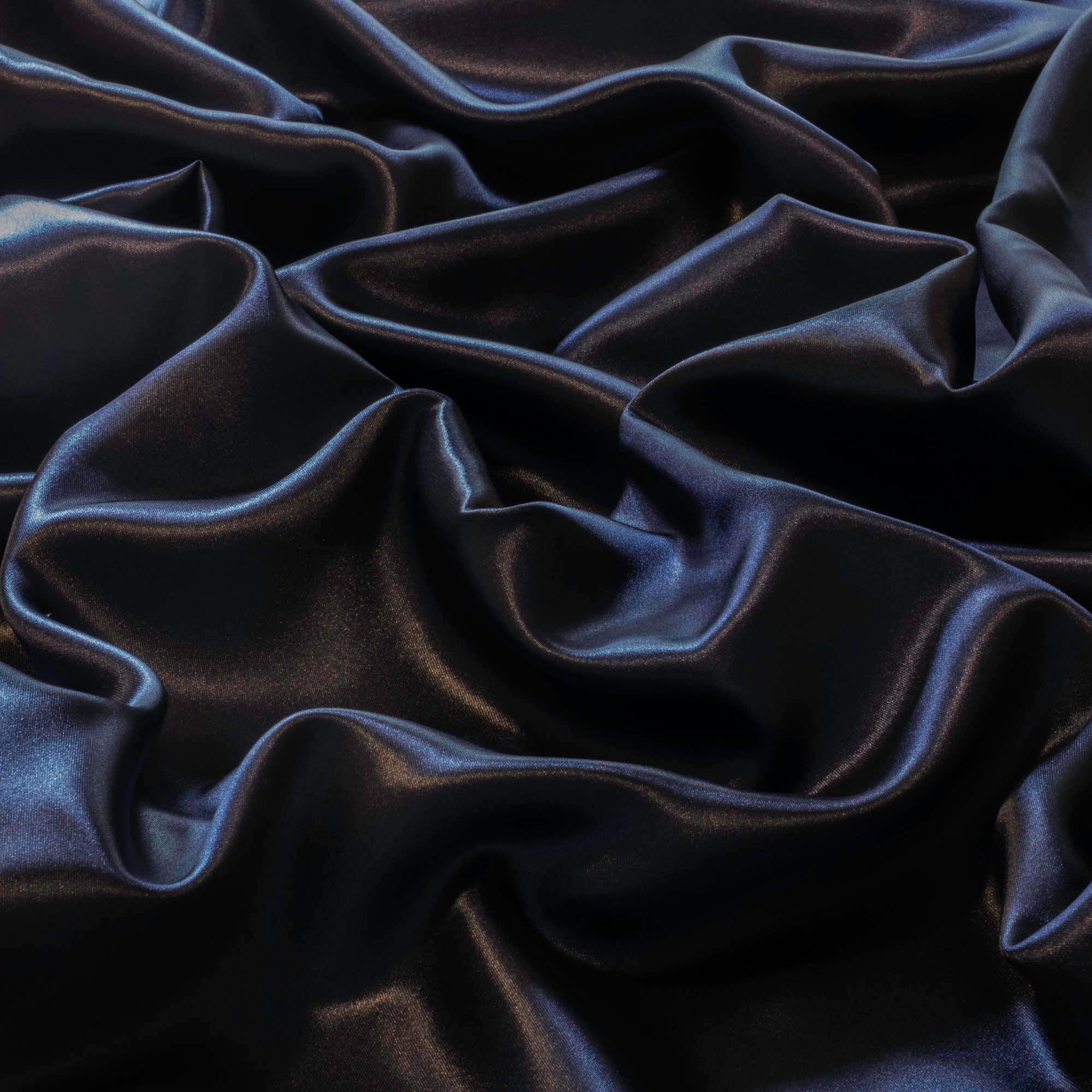Tecido Cetim Charmeuse Azul Marinho 100% Poliester 1,40 m Largura