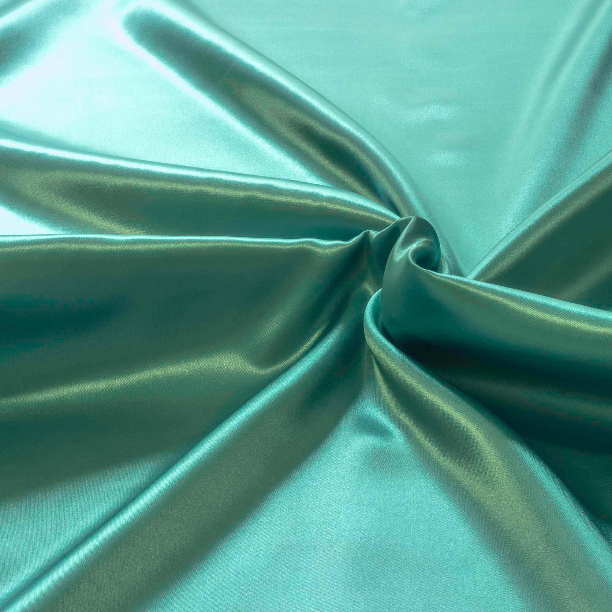 Tecido Cetim de Seda Charmeuse 1,50 Mt Largura Azul Tiffany