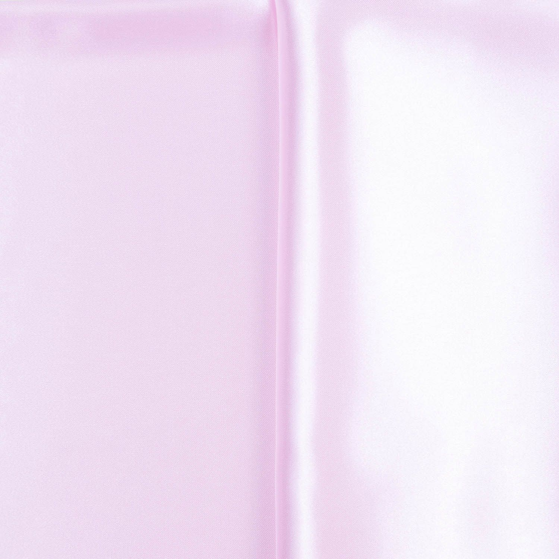 Tecido Cetim Charmeuse Rosa Bebe 100% Poliester 1,40 m Largura