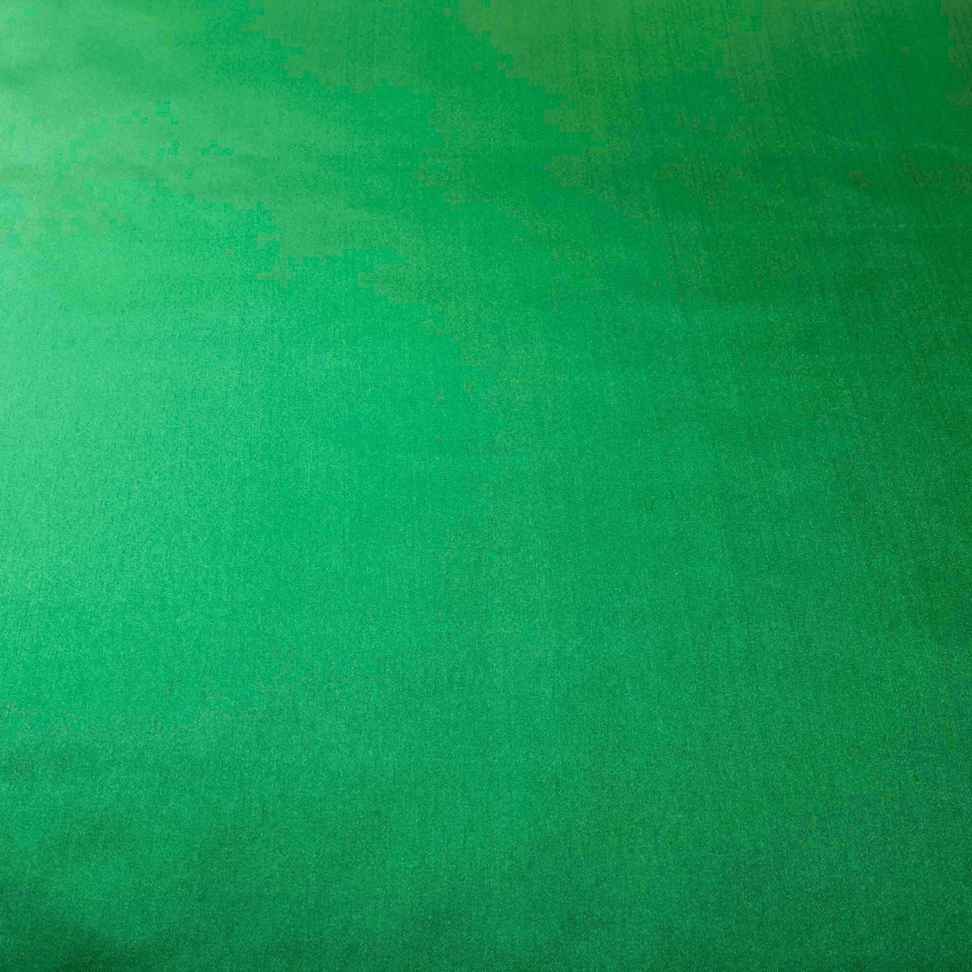 Tecido Cetim Charmeuse Verde Bandeira 100% Poliester 1,50 Mt Largura