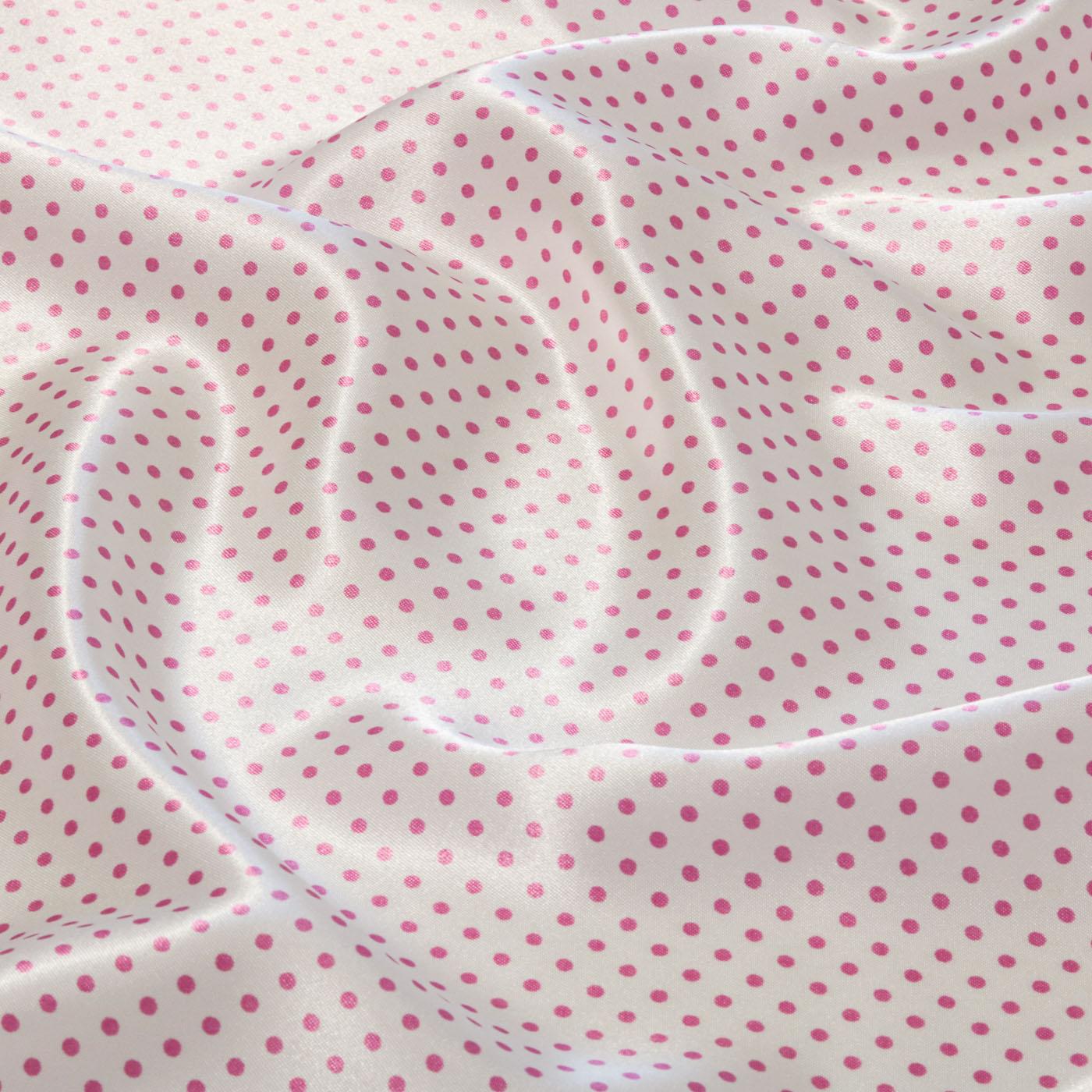 Tecido Cetim Estampado Poa Bolinha 1,40m Largura Rosa