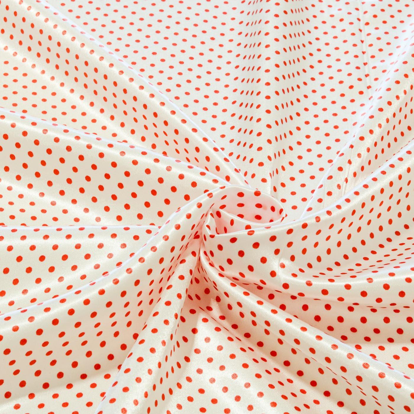 Tecido Cetim Estampado Poa Bolinha 1,40m Largura Vermelho